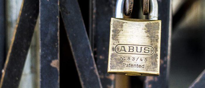 restricted key system padlock